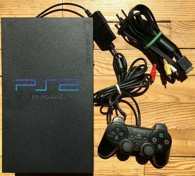 Console ps2 noire + manette + fils