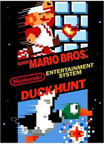 Duck hunt and supermario bros
