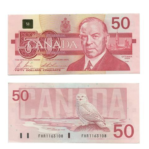 Billet 50$ x 10