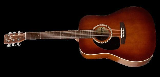 Handcrafted acoustic guitar cedar burst