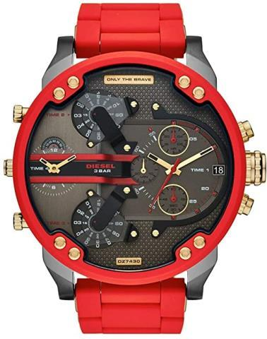 Montre diesel red and gold