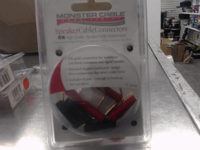 Speaker cable connectors