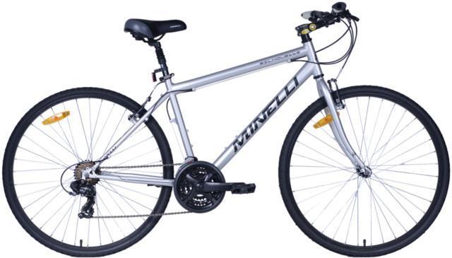Vélo de ville pour homme gris/bleue