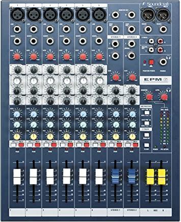 Soundcraft table de mixage audio 6 canau