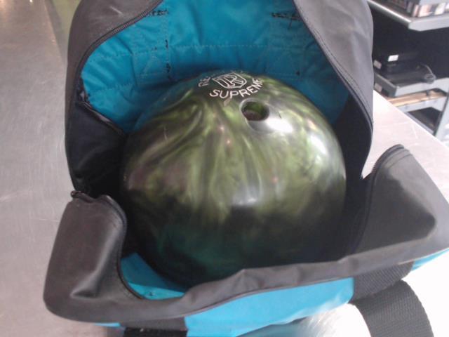 Boule de bowling verte