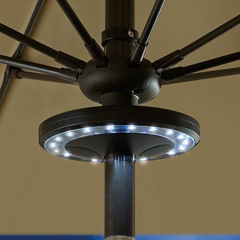 Patio led umbrella bluetooth speaker