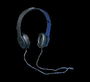 Ecouteurs casque bleu jean coutu