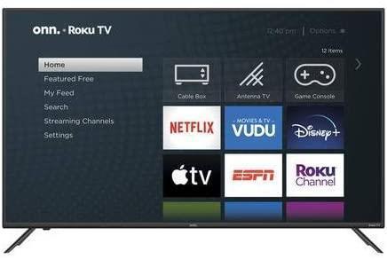 Tv onn 55 pouces smart roku (open/box)