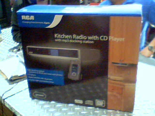 Kitchen radio with cd player