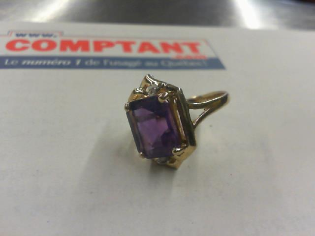 Bague en or 14kt   diamants